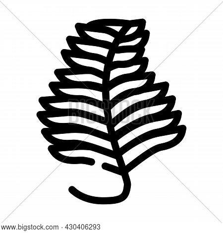 Undaria Plumose Seaweed Line Icon Vector. Undaria Plumose Seaweed Sign. Isolated Contour Symbol Blac