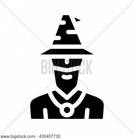 Magician Fairy Tale Glyph Icon Vector. Magician Fairy Tale Sign. Isolated Contour Symbol Black Illus