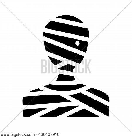 Mummy Fantasy Character Glyph Icon Vector. Mummy Fantasy Character Sign. Isolated Contour Symbol Bla