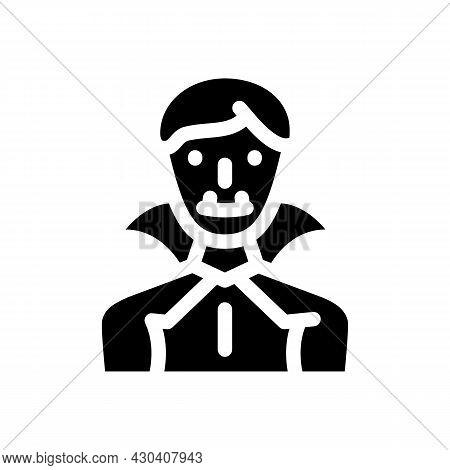 Vampire Fantasy Character Glyph Icon Vector. Vampire Fantasy Character Sign. Isolated Contour Symbol