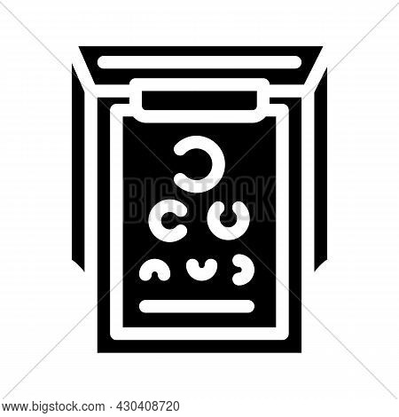 Snellen Table Ophthalmology Glyph Icon Vector. Snellen Table Ophthalmology Sign. Isolated Contour Sy