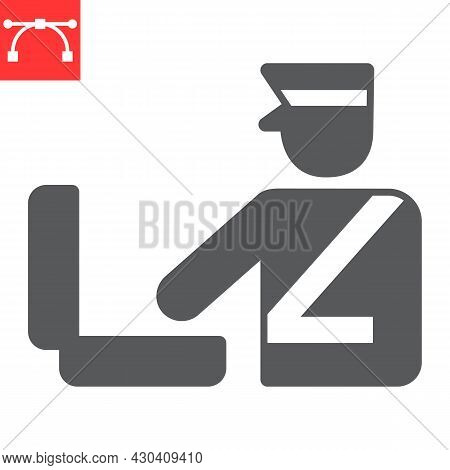 Customs Inspection Glyph Icon, Security Checkpoint And Airport, Luggage Control Vector Icon, Vector