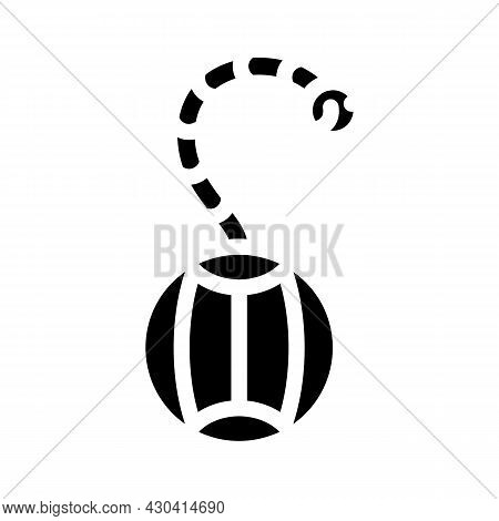 Roly-poly Pet Toy Glyph Icon Vector. Roly-poly Pet Toy Sign. Isolated Contour Symbol Black Illustrat