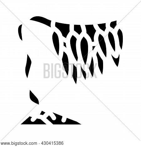 Macrocystis Seaweed Glyph Icon Vector. Macrocystis Seaweed Sign. Isolated Contour Symbol Black Illus