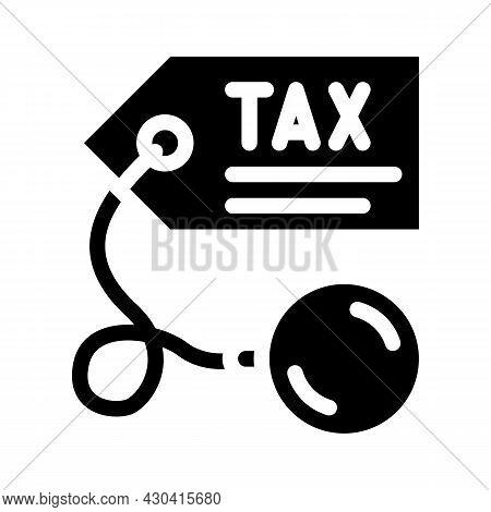 Litigation Tax Glyph Icon Vector. Litigation Tax Sign. Isolated Contour Symbol Black Illustration
