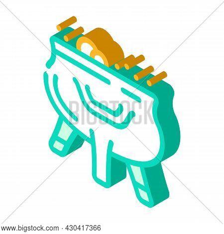 Prepare Poison Fairy Tale Isometric Icon Vector. Prepare Poison Fairy Tale Sign. Isolated Symbol Ill