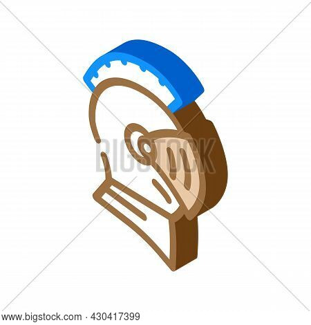 Knight Helmet Suit Armour Fairy Tale Isometric Icon Vector. Knight Helmet Suit Armour Fairy Tale Sig