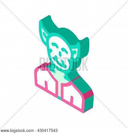 Troll Fantasy Character Isometric Icon Vector. Troll Fantasy Character Sign. Isolated Symbol Illustr