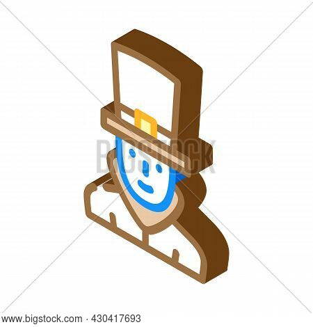 Steampunk Fantasy Character Isometric Icon Vector. Steampunk Fantasy Character Sign. Isolated Symbol