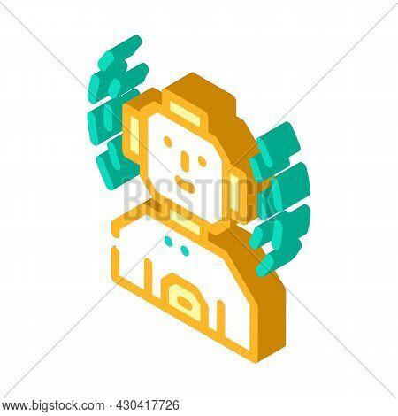 Robot Fantasy Character Isometric Icon Vector. Robot Fantasy Character Sign. Isolated Symbol Illustr