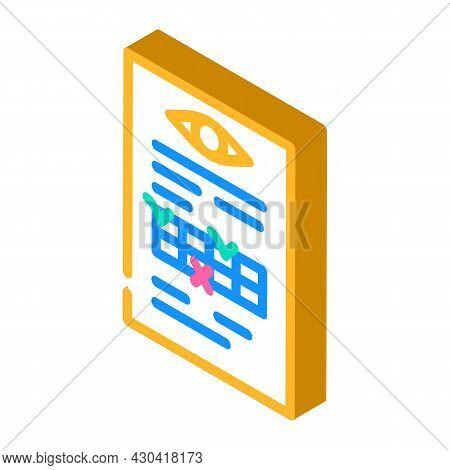 Anamnesis Ophthalmology Isometric Icon Vector. Anamnesis Ophthalmology Sign. Isolated Symbol Illustr
