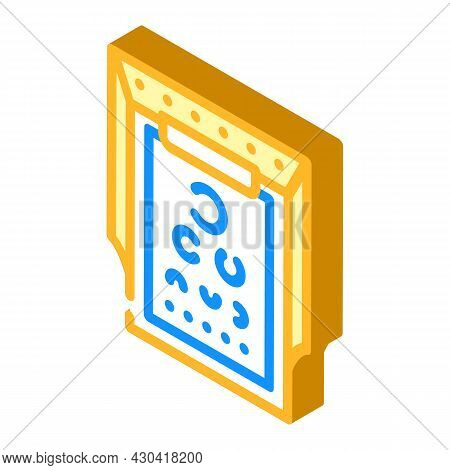 Snellen Table Ophthalmology Isometric Icon Vector. Snellen Table Ophthalmology Sign. Isolated Symbol