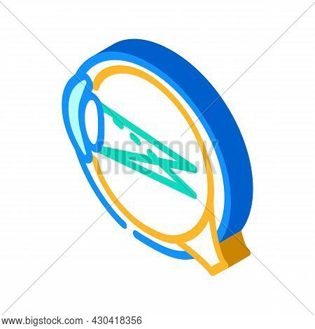 Astigmatism Ophthalmology Isometric Icon Vector. Astigmatism Ophthalmology Sign. Isolated Symbol Ill