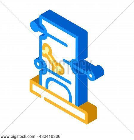 Playful Dog Pet Toy Isometric Icon Vector. Playful Dog Pet Toy Sign. Isolated Symbol Illustration