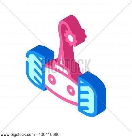 Electronic Pet Toy On Wheel Isometric Icon Vector. Electronic Pet Toy On Wheel Sign. Isolated Symbol