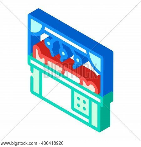 Robot Doing Surgery Operation Isometric Icon Vector. Robot Doing Surgery Operation Sign. Isolated Sy