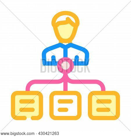 Task Management Color Icon Vector. Task Management Sign. Isolated Symbol Illustration