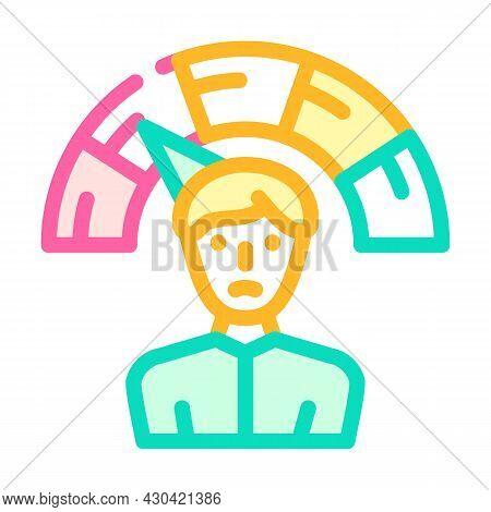 Negative Employee Level Color Icon Vector. Negative Employee Level Sign. Isolated Symbol Illustratio
