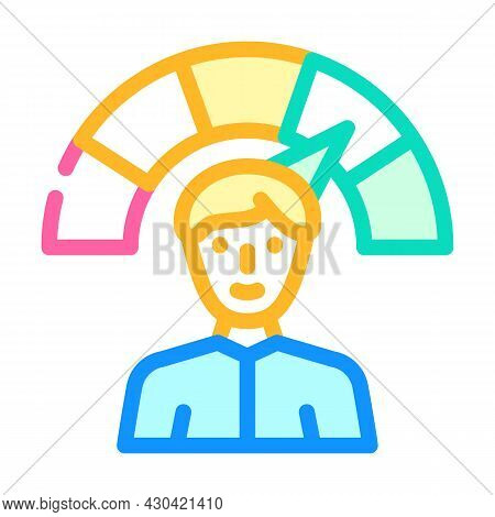 Positive Employee Level Color Icon Vector. Positive Employee Level Sign. Isolated Symbol Illustratio