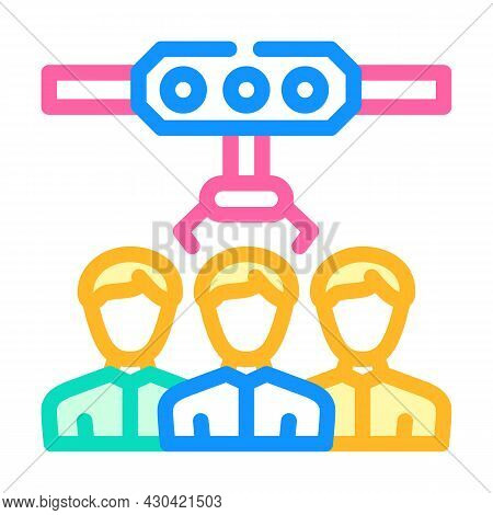 Employee Selection Color Icon Vector. Employee Selection Sign. Isolated Symbol Illustration