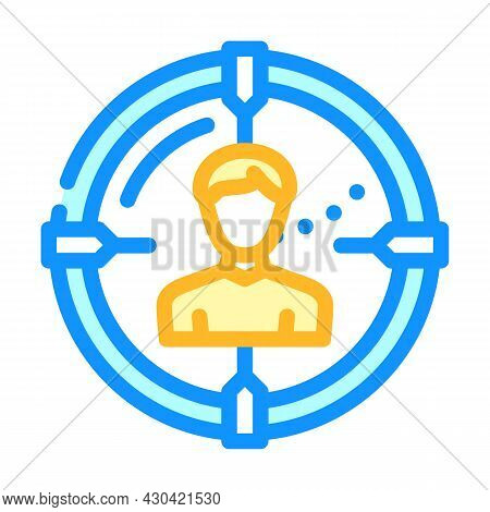 Headhunting Employee Color Icon Vector. Headhunting Employee Sign. Isolated Symbol Illustration