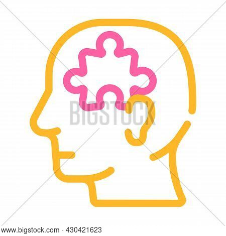 Puzzle Employee Problem And Task Color Icon Vector. Puzzle Employee Problem And Task Sign. Isolated