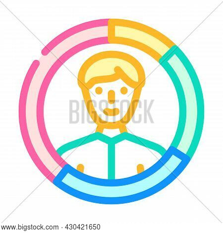 Skills Candidate Color Icon Vector. Skills Candidate Sign. Isolated Symbol Illustration