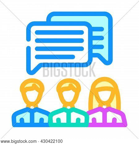 Communication People Color Icon Vector. Communication People Sign. Isolated Symbol Illustration