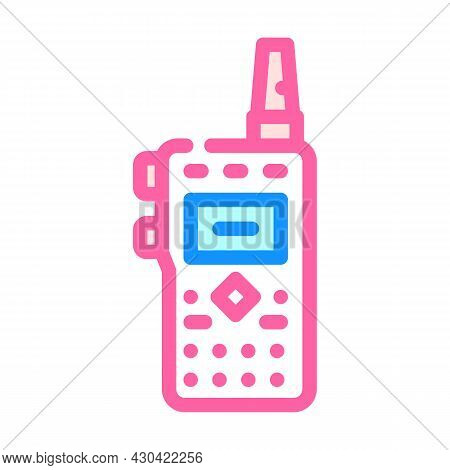 Walkie-talkie Electronic Device Color Icon Vector. Walkie-talkie Electronic Device Sign. Isolated Sy
