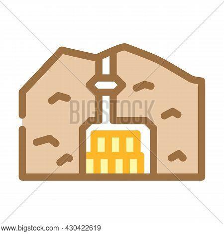 Special Burial In Mountain Color Icon Vector. Special Burial In Mountain Sign. Isolated Symbol Illus