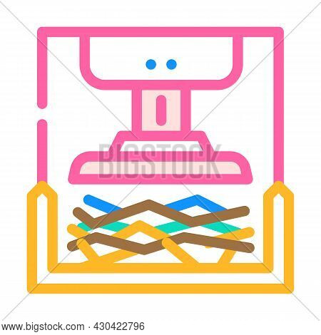 Pressing Solid Waste Color Icon Vector. Pressing Solid Waste Sign. Isolated Symbol Illustration