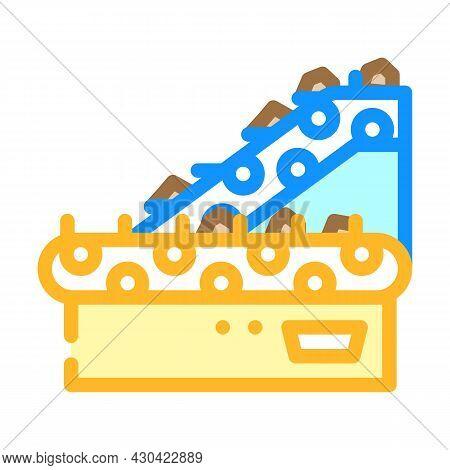 Sorting Belt Conveyor Color Icon Vector. Sorting Belt Conveyor Sign. Isolated Symbol Illustration