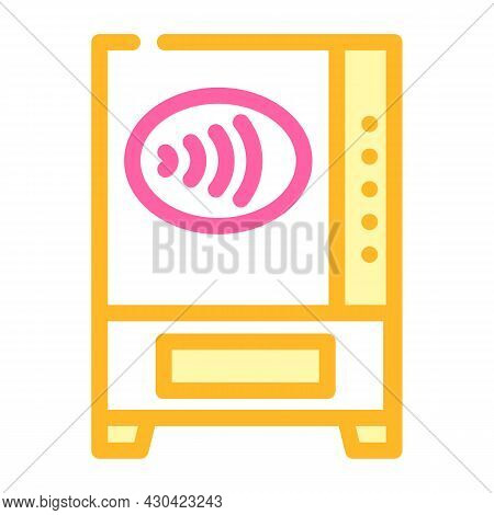 Contactless Payment Pay Pass Color Icon Vector. Contactless Payment Pay Pass Sign. Isolated Symbol I