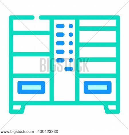 Double Vending Machine Color Icon Vector. Double Vending Machine Sign. Isolated Symbol Illustration