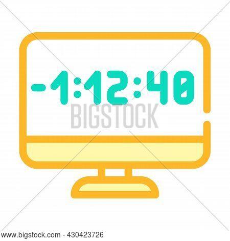 Countdown Video Conference Color Icon Vector. Countdown Video Conference Sign. Isolated Symbol Illus