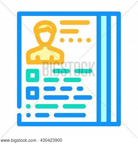 Actor Casting Color Icon Vector. Actor Casting Sign. Isolated Symbol Illustration