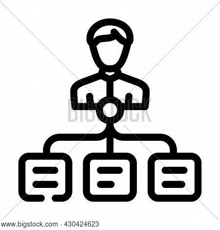 Task Management Line Icon Vector. Task Management Sign. Isolated Contour Symbol Black Illustration