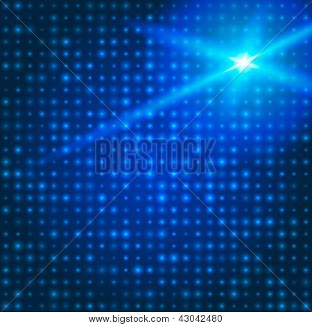 Blue technology background with particles