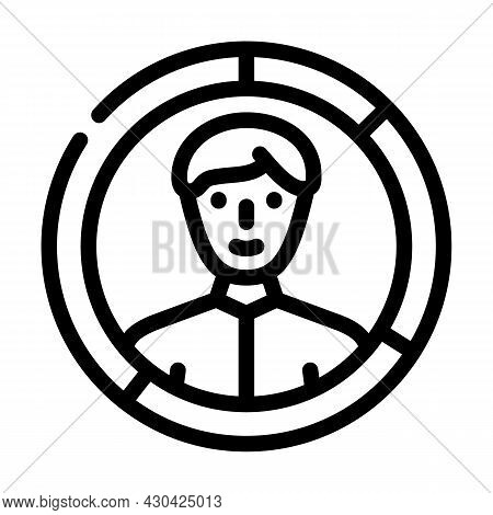 Skills Candidate Line Icon Vector. Skills Candidate Sign. Isolated Contour Symbol Black Illustration