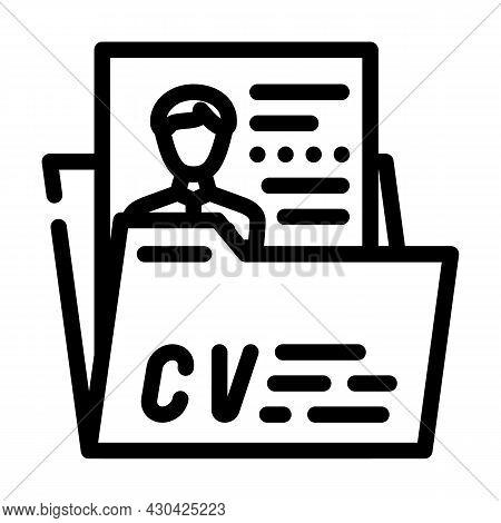 Personal Profile Cv Line Icon Vector. Personal Profile Cv Sign. Isolated Contour Symbol Black Illust