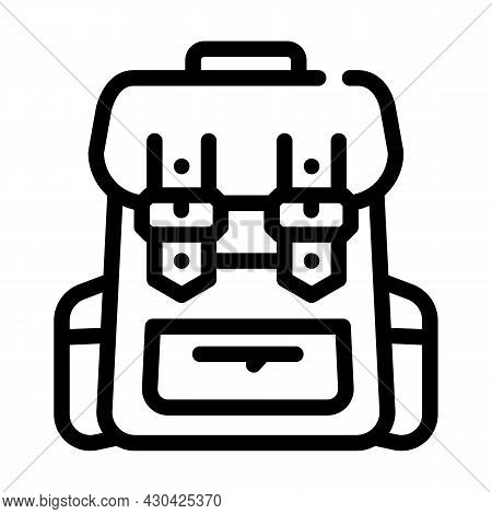 Backpack Accessory Line Icon Vector. Backpack Accessory Sign. Isolated Contour Symbol Black Illustra