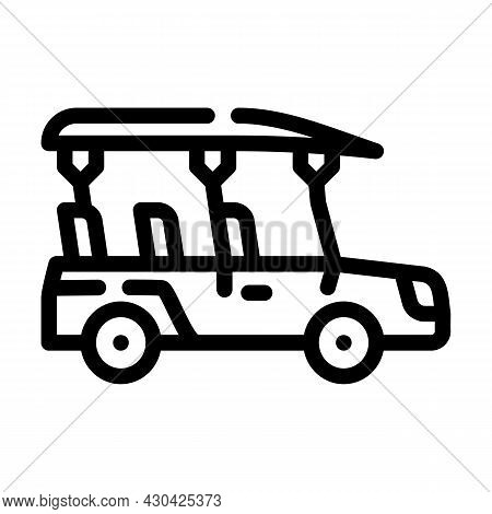 Safari Car Line Icon Vector. Safari Car Sign. Isolated Contour Symbol Black Illustration