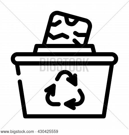 Reuse Solid Waste Line Icon Vector. Reuse Solid Waste Sign. Isolated Contour Symbol Black Illustrati