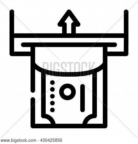 Paper Money Acceptance Line Icon Vector. Paper Money Acceptance Sign. Isolated Contour Symbol Black