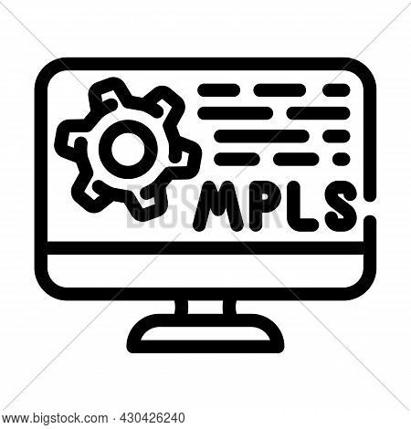 Mpls Protocol Line Icon Vector. Mpls Protocol Sign. Isolated Contour Symbol Black Illustration