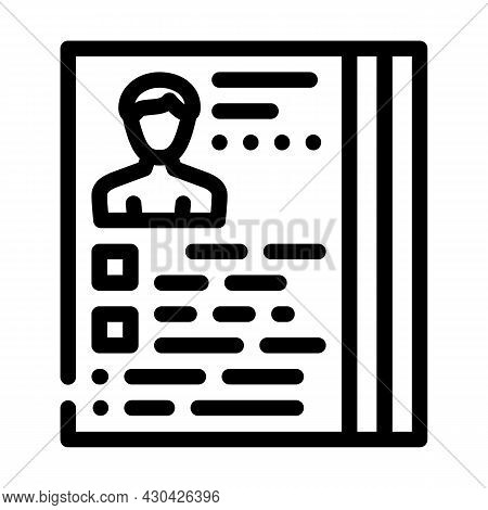 Actor Casting Line Icon Vector. Actor Casting Sign. Isolated Contour Symbol Black Illustration