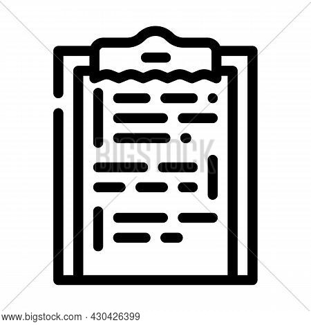 Scenario Movie Line Icon Vector. Scenario Movie Sign. Isolated Contour Symbol Black Illustration