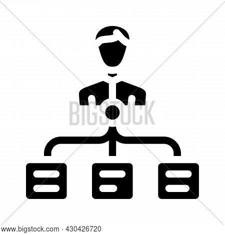 Task Management Glyph Icon Vector. Task Management Sign. Isolated Contour Symbol Black Illustration