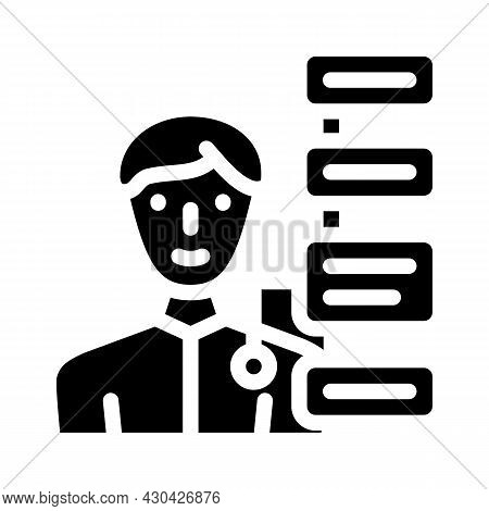 Human Qualities Glyph Icon Vector. Human Qualities Sign. Isolated Contour Symbol Black Illustration