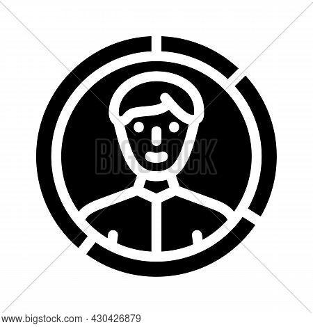 Skills Candidate Glyph Icon Vector. Skills Candidate Sign. Isolated Contour Symbol Black Illustratio